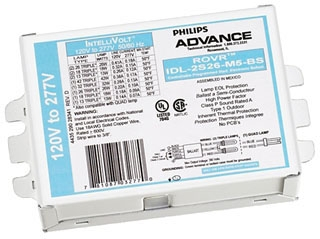 ADVANCE IDL2T42M5BS35M : ELECTRONIC DIMMING BALLAST 2 LAMP 42W CFL (4-PIN) 120-277V