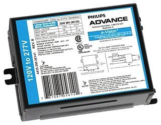 ADVANCE IMH100ABLSIDM : ELECTRONIC METAL HALIDE BALLAST 100W M140 120-277V ID OUT