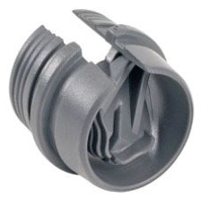 "BRIDGEPORT 620-NM 1/2"" PLASTIC CONNECTOR"