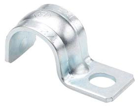 "BRIDGEPORT 901-S 1/2"" 1-HOLE RIGID PIPE STRAP STEEL"