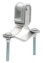 "Bridgeport MWH-1 Procelain Clamp-on Adjustable Wire Holder for 1-1/4""-3"" Service Entrance Mast"