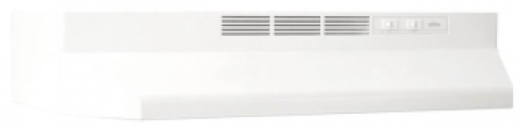 """BROAN 413001 30"""" White, Range Hood, Non-ducted ."""