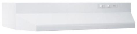 "BROAN 403001 30"" White, Range Hood, 160 CFM."