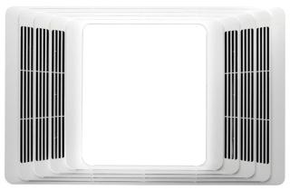 BROAN 657 Fan/Light, White Plastic Grille, 70 CFM.