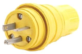 20 amp 125V 5-20P Hubbell HBL14W33 ElastoGrip Watertight Plug