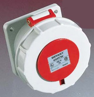 HUBBELL 530R7W 30 AMP 277//480 VOLT PIN/&SLEEVE RECEPTACLE