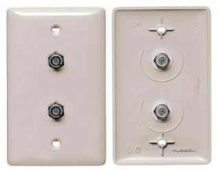 Almond Morris 85023 Double F Connector Wall Plate