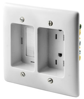 Outlet Black Bryant Electric RR15BK Electrical Receptacle