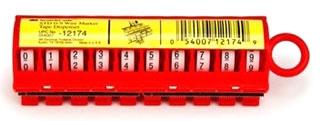 3-M STD-0-9 ScotchCode Wire Marker Tape Dispenser with Tape,