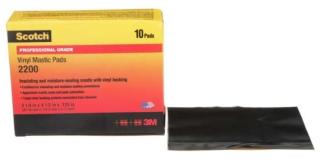 """3-M 2200-3.25X4.5IN Vinyl Mastic Pad, 3-1/4"""" x 4-1/2"""" Black 10 pads"""