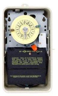 INTERMATIC T104R201 NEMA 3R - STEEL CASE 208-277 V DPST W/SPDT HEATER CUTOFF SWITCH