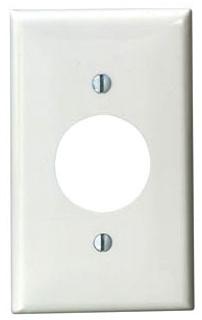 LEVITON 80704-W : WHITE NYL 1 GANG SINGLE RECEPTACLE PLATE