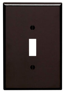 LEVITON 85101 : 1 GANG BROWN OVERSIZE SWITCH PLATE