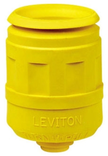 LEVITON 6033-Y : YELLOW PLUG BOOT