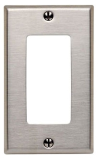 LEVITON 84401-40 : 1 GANG STAINLESS STEEL DECORA/GFI WALLPLATE