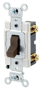 LEVITON CSB1-20 : SP 20A 277V BROWN AC SWITCH