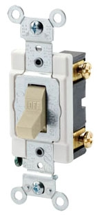 LEVITON CSB1-15I : SP 15A 277V IVORY AC SWITCH