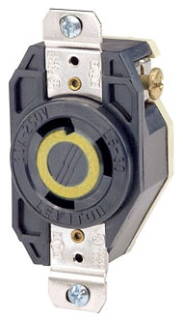 LEVITON 2610 : LOCKING FLUSH RECEPTACLE