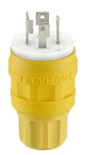 LEVITON 28W75 : NEMA L15-30P LOCKING PLUG