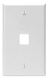 LEVITON 41080-1WP : WHITE 1 GANG/DEVICE WALLPLATE