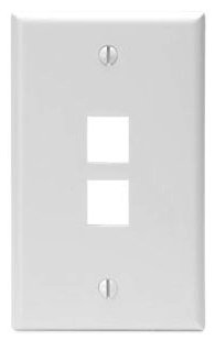 LEVITON 41080-2WP FLUSH 2-PORT PLT