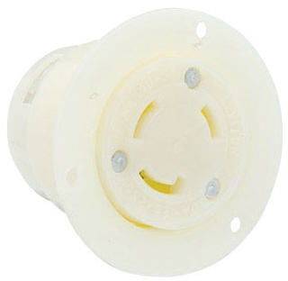 LEVITON 4715-C : LOCKING FLANGED OUTLET-NM L5-15R