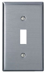 LEVITON 84001 1 GANG STAINLESS STEEL SWITCH PLATE