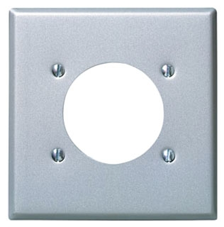LEVITON 84026 : 2 GANG STAINLESS STEEL PLATE FOR RECEPTACLE2.109