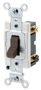 LEVITON CSB3-15 : 3WAY 15A 277V BROWN SWITCH