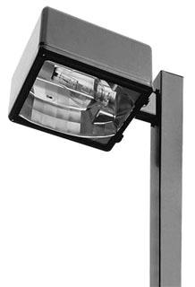 "Lithonia LIGHTING KAD 400M R4 TB SPD04 LPI POLE LIGHTING W//4/"" ARM 400WATT MH"