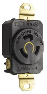 P&S L520-R TURNLOK RECEPTACLE SINGLE 3WIRE 20A125V