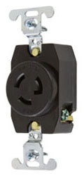 P&S 4760 : TURNLOK SINGLE RECEPTACLE 3-WAY 15A 277V