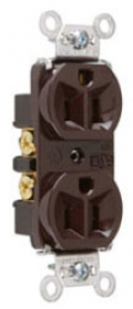 P&S 5262 : DUPLEX RECEPTACLE 15A 125V SIDE & BACK WIRE