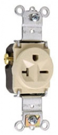 P&S 5871-I : SINGLE RECEPTACLE 20A 250V SIDE & BACK WIRE