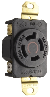P&S L1420-R : TURNLOK SINGLE RECEPTACLE 4-W 20A 125/250V