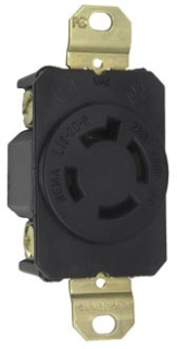 P&S L1620-R : TURNLOK SINGLE RECEPTACLE 4-WAY 20A 3P 480V