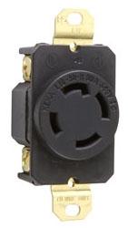 L16-30R P /& S L1630R Turnlok Single Receptacle 4-Wire 30A 480V