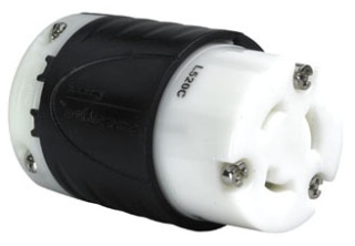 P&S L520-C TURNLOK CONNECTOR 3-WAY 20A 125V