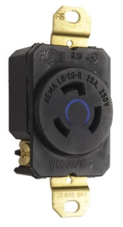 P&S L620-R : TURNLOK RECEPTACLE SINGLE 3-WAY 20A 250V