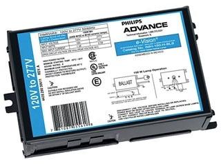 ADVANCE IMH150HBLSM : ELECTRONIC METAL HALIDE BALLAST 150W M102/142 120-277V 50/60H