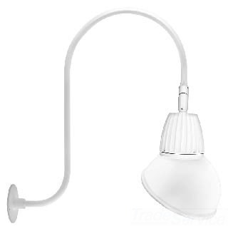 RAB GN3LED13NRAD11W GOOSENECK STYLE3 13W NEUTRAL LED 11 AD SHADE RECT REFL WH