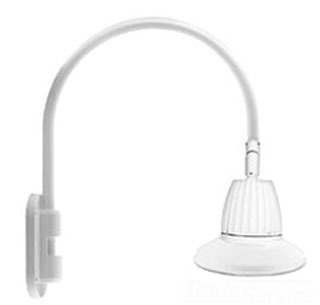 RAB GN4LED26NRST11W GOOSENECK STYLE4 26W NEUTRAL LED 11 ST SHADE RECT REFL WH