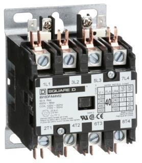 SQUARE D 8910DPA44V09 : CONTACTOR 600VAC 40AMP DPA +OPTIONS