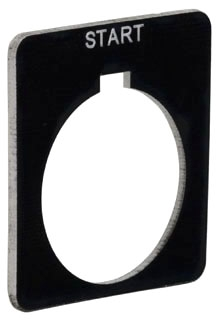 SQUARE D 9001KN701BP : PUSH BUTTON LEGEND PLATE 30MM T-K