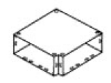 SQUARE D RWT06HES : WALL DUCT,HORIZ ELBOW W/SURFACE COVER