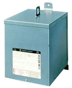 SQUARE D 5S1F : TRANSFORMER DRY 5KVA 240X480V-120/240V