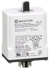 SQUARE D 9050JCK13V20 : TIMER RELAY 240VAC 10AMP +OPTIONS