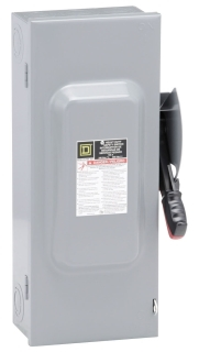SQUARE D H323N : SWITCH FUSIBLE HEAVY DUTY 240V 100A 3P /NEUTRAL