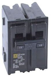 SQUARE D HOM215 : MINIATURE CIRCUIT BREAKER 120/240V 15A