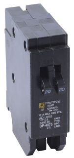 SQUARE D HOMT2020 : MINIATURE CIRCUIT BREAKER 120/240V 20A